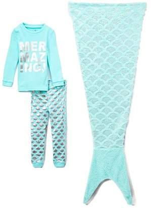 Freestyle Revolution Long Sleeve Pajamas & Sleeping Bag, 3-piece Sleepover Gift Set (Toddler Girls)