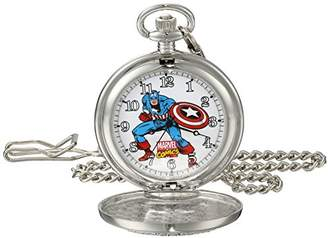 Marvel Men's Captain America W001741 Analog-Quartz Pocket Watch