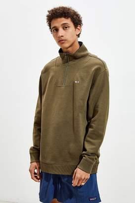 Tommy Jeans Half-Zip Mock Neck Sweatshirt