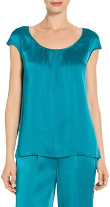 St. John Liquid Crepe Top