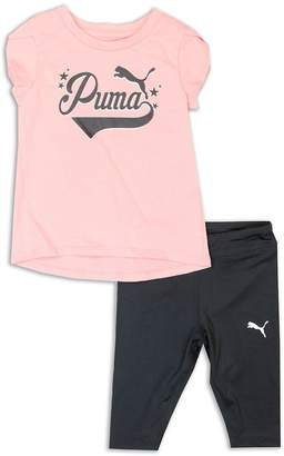Puma Little Girl's Two-Piece Tee and Capri Set