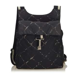 Chanel Black Synthetic Backpacks