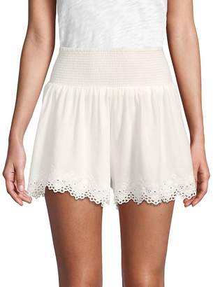 Rebecca Taylor Women's Amora Embroidered Shorts