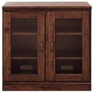 Pottery Barn Printer's Double Glass Door Cabinet