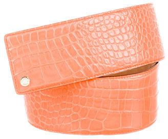 Jimmy ChooJimmy Choo Embossed Leather Belt