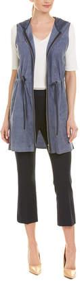 Lafayette 148 New York Salma Silk-Trim Linen Vest