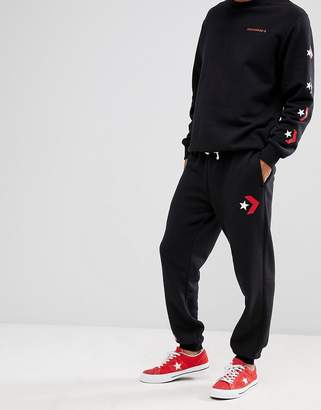 Converse Joggers With Leg Print In Black 10007056-A02