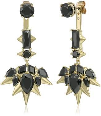 Noir Blizzard Drop Earrings