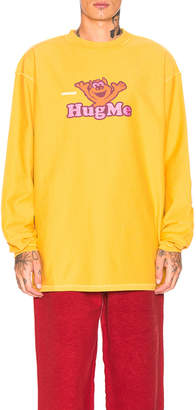 Vetements Long Sleeve Graphic Tee in Yelllow