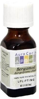 Aura Cacia Essential Oil, Uplifting Bergamot Bergaptene-Free, 0.5 fluid ounce by