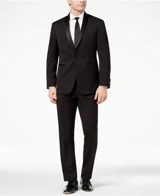 Kenneth Cole Reaction Men's Techni-Cole Slim-Fit Stretch Black Shawl-Lapel Tuxedo