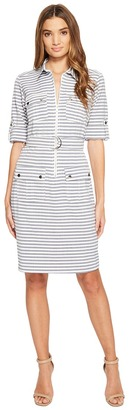 Christin Michaels - Stare Stripe Shirtdress Women's Dress $84 thestylecure.com