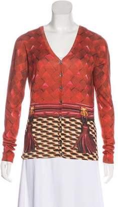 Mary Katrantzou Silk & Wool Knit Cardigan