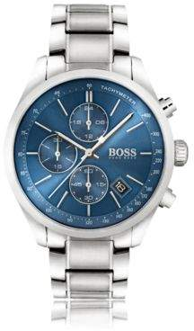 BOSS Hugo '1513478' Chronograph Tachymeter Bracelet Strap Watch One Size Assorted-Pre-Pack