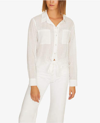 ed3b3a09 Sanctuary Resort Solid Tie-Front Button-Up Top