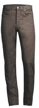 Rag & Bone Coated Slim-Fit Jeans