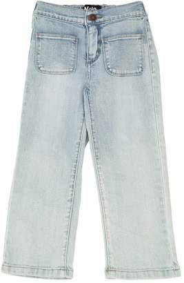 Molo Cropped Stretch Cotton Denim Jeans