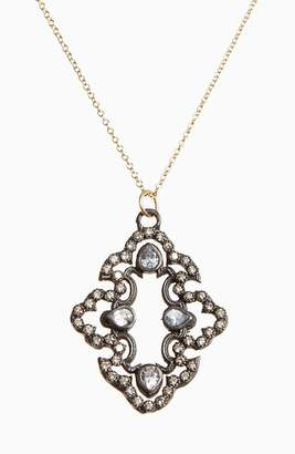 Armenta Old World Diamond Scroll Pendant Necklace