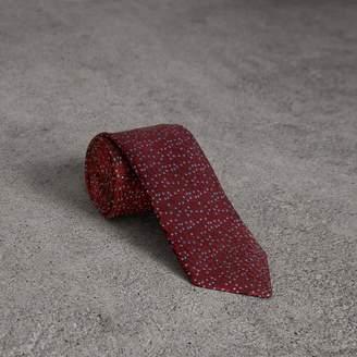 Burberry Modern Cut Floral Spot Silk Tie