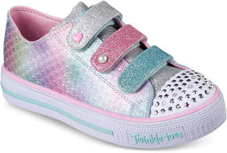 Skechers Little Girls' Twinkle Toes: Shuffles - Ms. Mermaid Light-Up Casual Sneakers from Finish Line