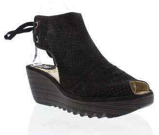 Fly London Ypul799fly Peep Toe Wedge Shoe Boot