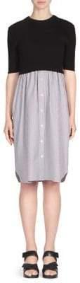 Kenzo Poplin Combo Dress