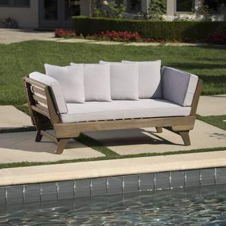 Union Rustic Ellanti Patio Daybed with Cushions