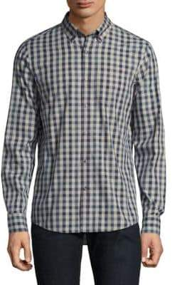 Michael Kors Slim Allen Cotton Casual Button-Down Shirt