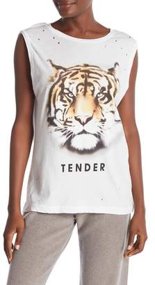 Wildfox Couture Tender Front Graphic Print Tank Top