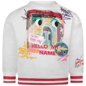 Burberry BurberryBaby Girls Ivory My Name Is Sweater
