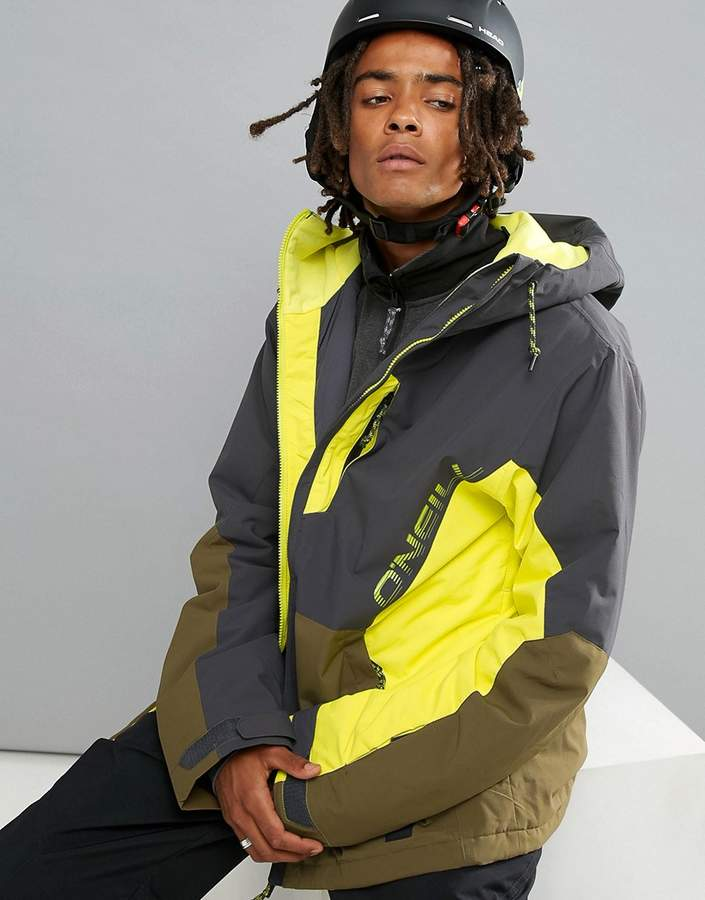 O'Neill Suburbs Ski Jacket All Over Print in Yellow/Black