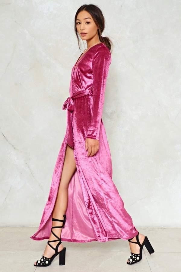 nastygal Magic Touch Velvet Dress
