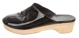Chanel CC Patent Leather Clogs