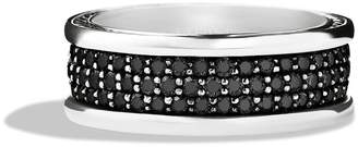 David Yurman 'Streamline' Band Ring with Black Diamonds