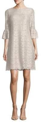 Eliza J Scalloped Lace Shift Dress