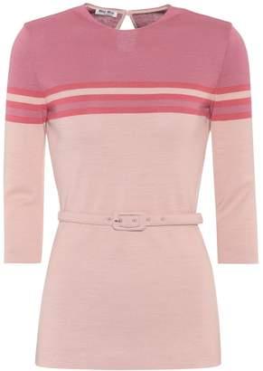Miu Miu Wool-blend sweater
