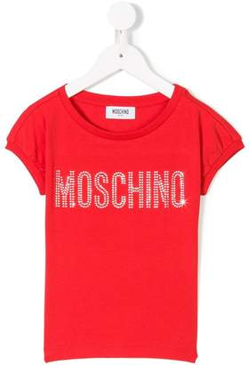 Moschino Kids logo patch T-shirt