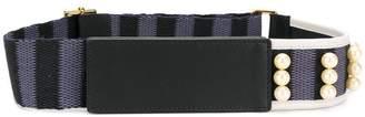 Marni peal embellished webbed belt