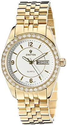 Croton Women's CN207279YLCR Heritage Analog Display Quartz Gold Watch