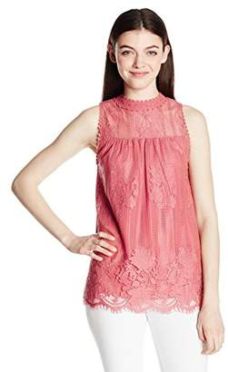 Miss Chievous Women's Allover Victorian Lace Tank