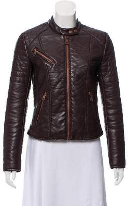 Andrew Marc Faux Leather Long Sleeve Jacket