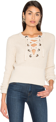 525 america Lace Up Sweater $193 thestylecure.com