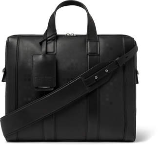 Bottega Veneta Textured-Leather Briefcase - Men - Black
