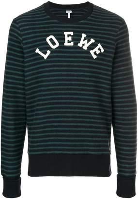 Loewe logo striped sweatshirt