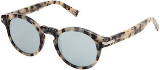 Marc Jacobs MARC 184/S Tortoiseshell-Look Mirrored Round Sunglasses