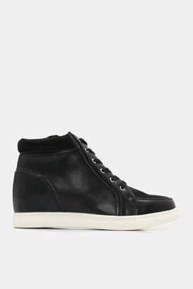 Ardene Faux Leather Hidden Wedge Sneakers