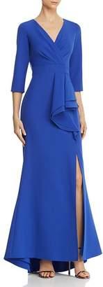 Eliza J Pleat-Front Gown