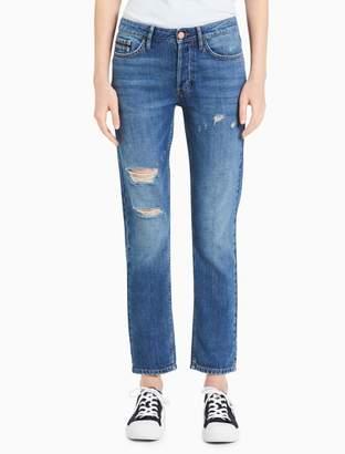 Calvin Klein slim boyfriend fit distressed jeans