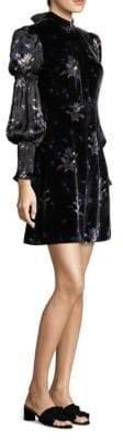 Rebecca Taylor Floral Velvet Dress