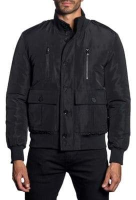 Jared Lang Long-Sleeve Military Jacket
